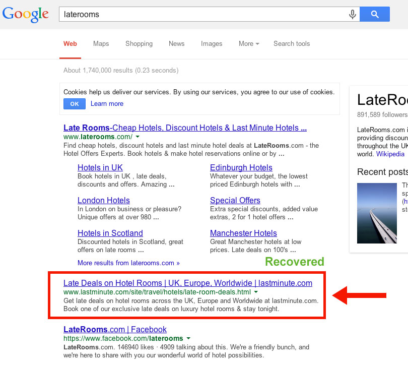 ' ' from the web at 'http://cognitiveseo.com/blog/wp-content/uploads/2014/02/laterooms-ranking-recovered.jpg'