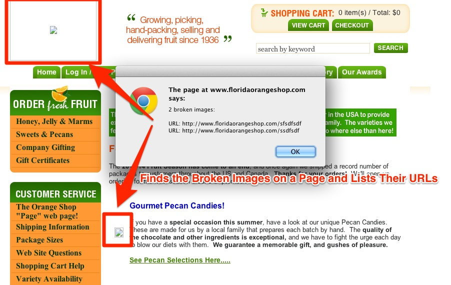 Broken Images Bookmarklet URL