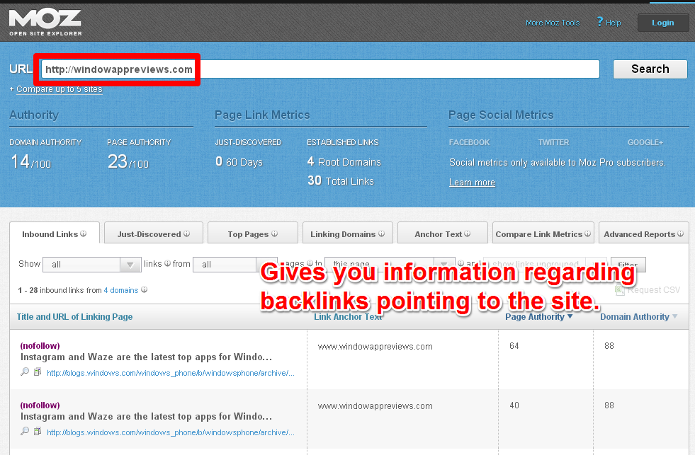 More Backlinks - MOZ