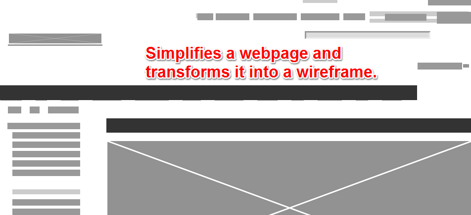 Simplified Wireframe Webpage