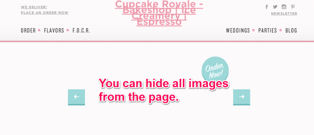 Hide All Images from the Current Page