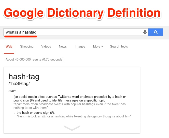 Google Dictionary Definition