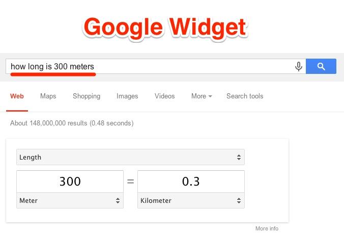 Définition du widget Google