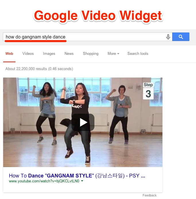 Définition du widget vidéo Google