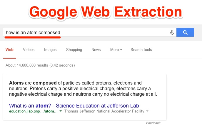 Google Web Extraction