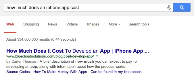 How Much Does An Iphone App Cost Google Box Answers