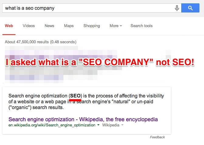 What Is A SEO Company Failure Google Answers