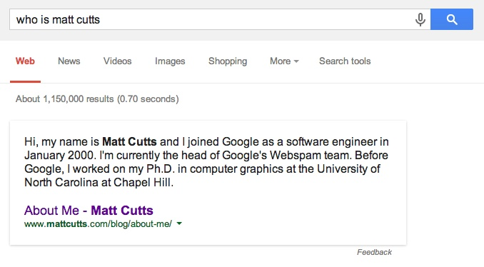 Who is Matt Cutts Google Answer