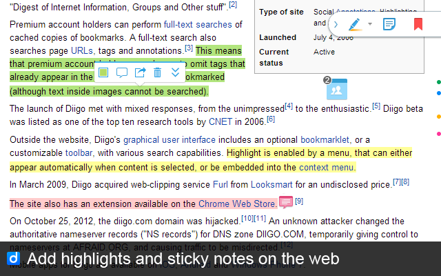 Diigo Web Collector Extension