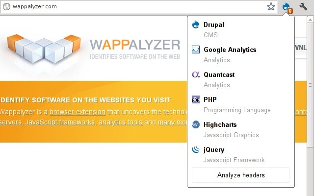 Wappalyzer Extension
