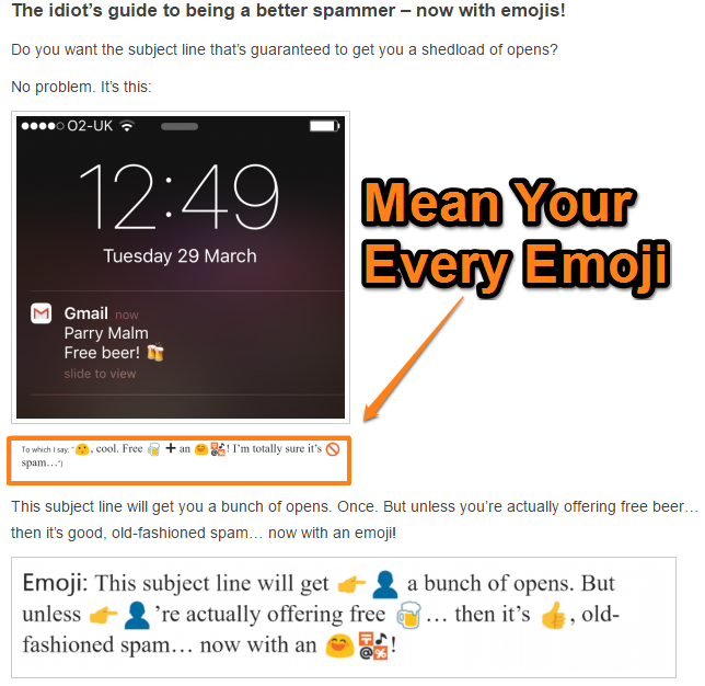 Be Playful. Use Emojis in the Subject Line when It's Appropriate - Failure Example