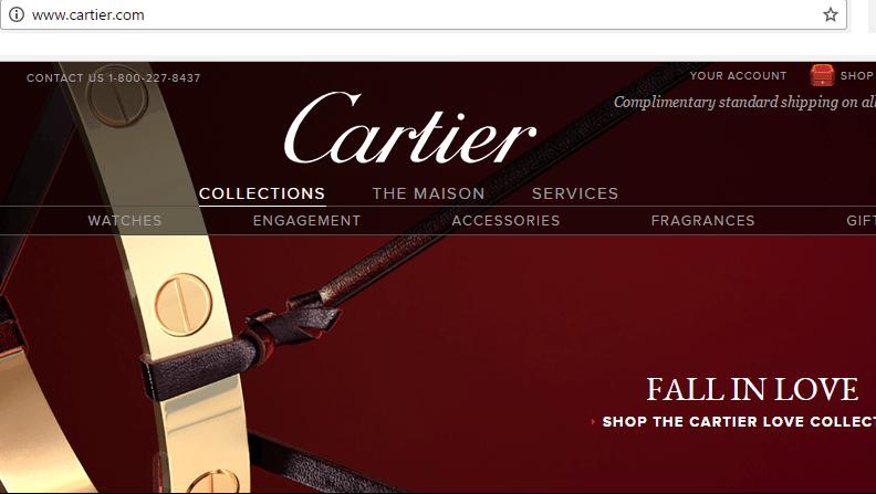 Cartier official website