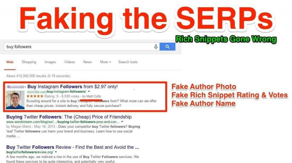 faking the serps rich snippets