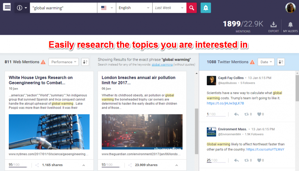 Brand Mentions research topic