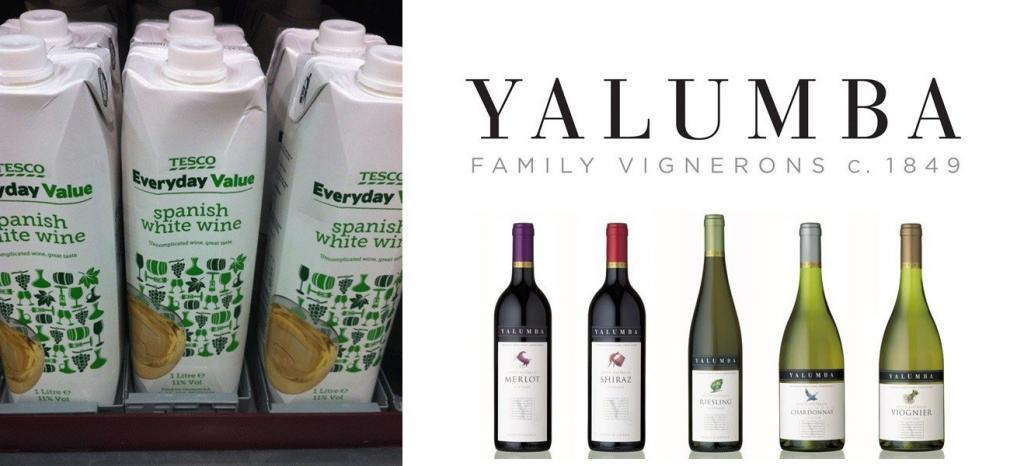 tesco and yalumba wine