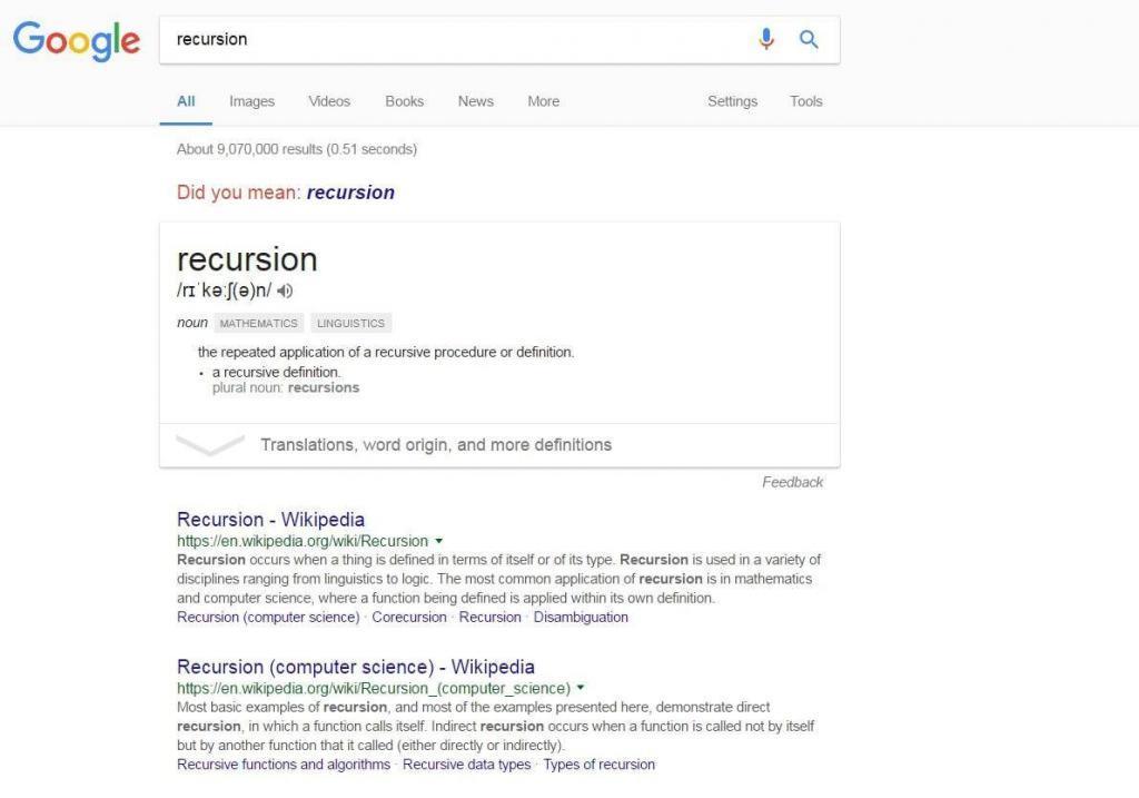 recursion easter egg