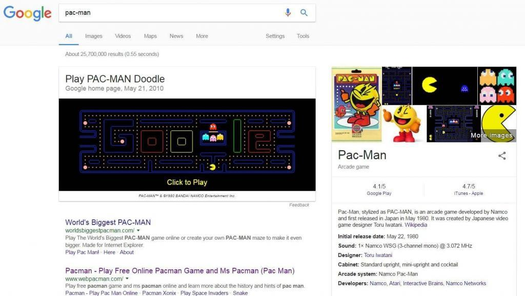 Pac-man easter egg