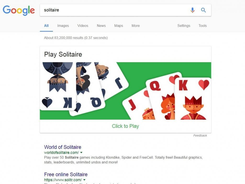 Solitaire easter egg