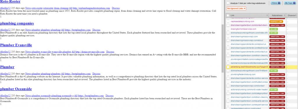 List of backlinks