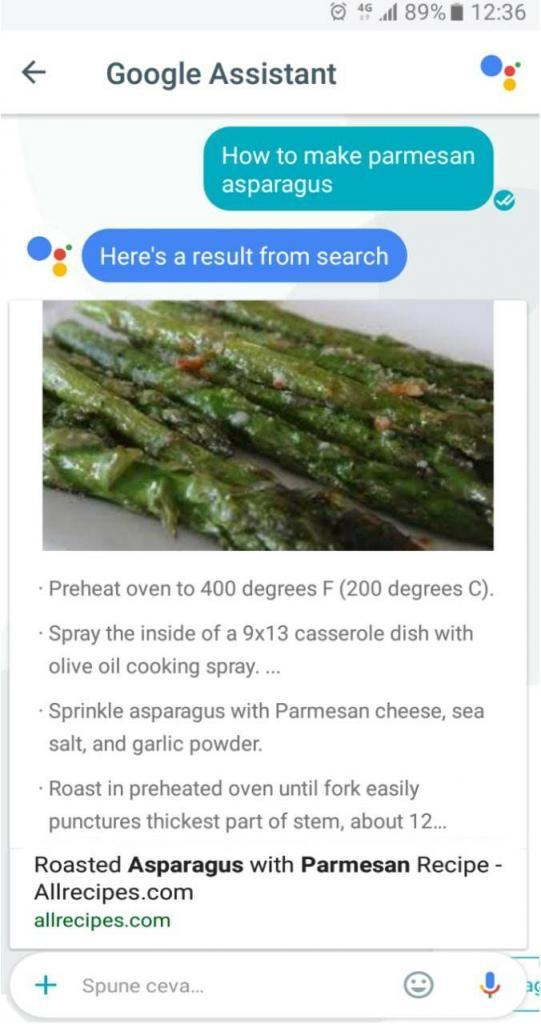 Google Assistant results