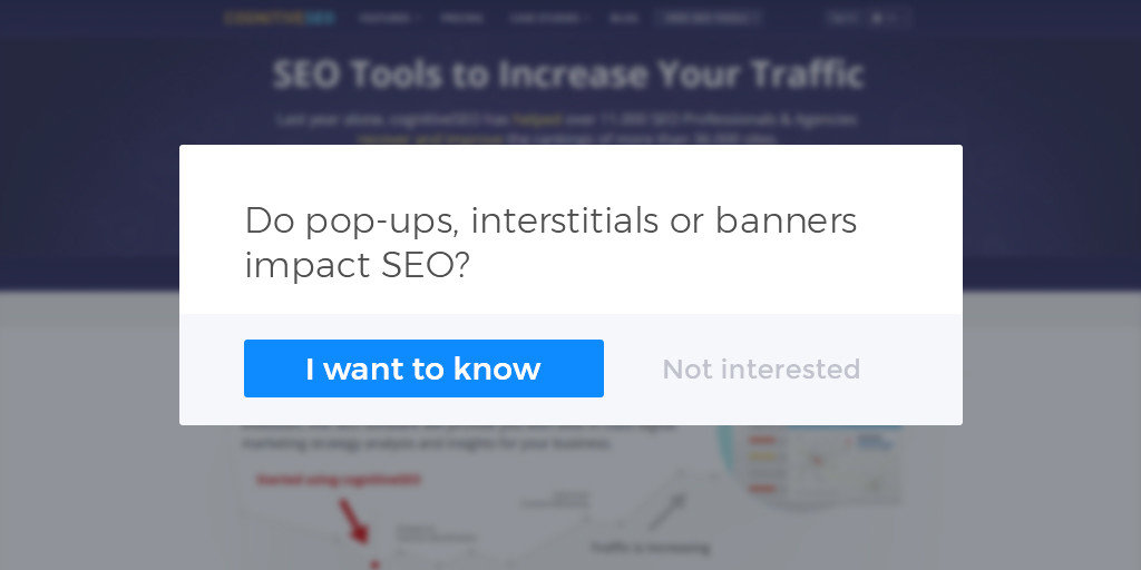 Do popups interstitials or banners impact seo