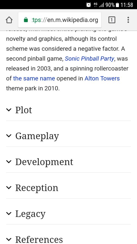 Wikipedia expandable content