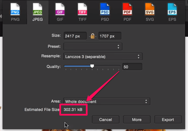 Compressed image with Affinity Photo