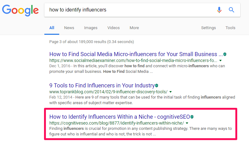 Metadescription for how to identify influencers