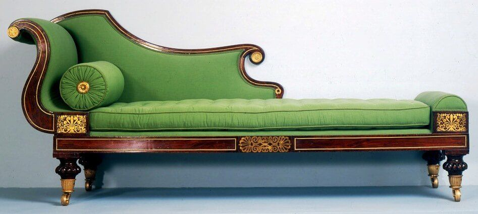 Grecian couch (from 1825) displayed at High Museum of Art, Atlanta