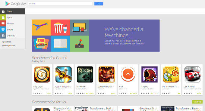 New-Google-Play-Web-Store