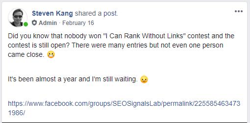 SEO Contest No Links