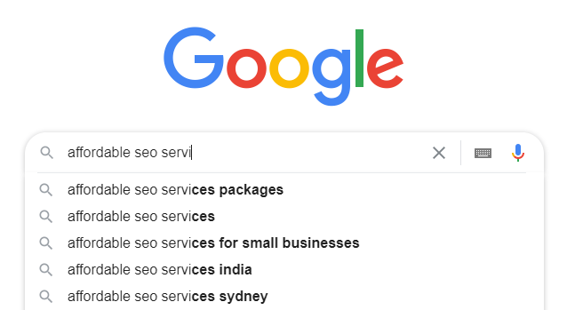 Google AutoSuggest