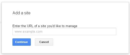 webmaster add a site