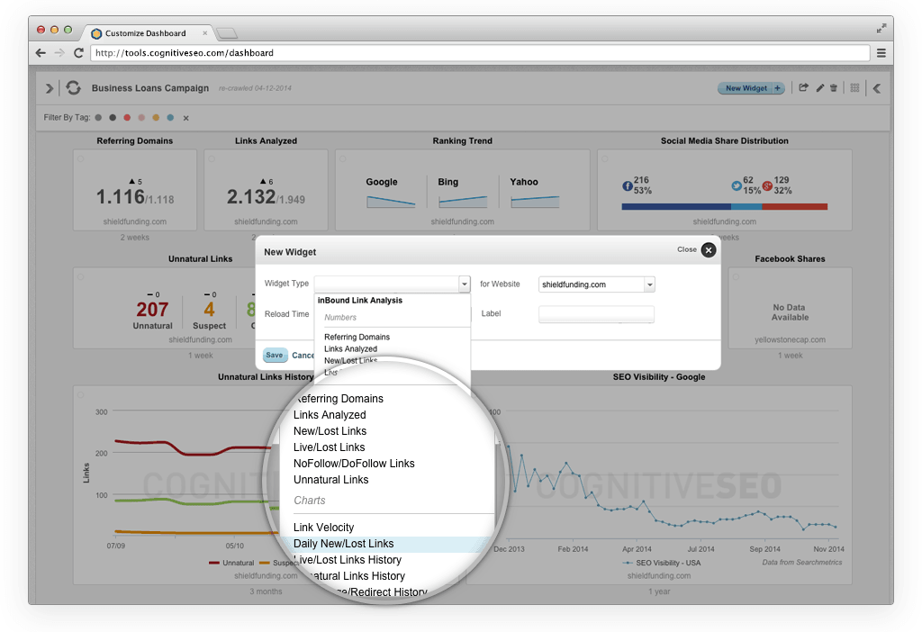 Take Advantage of a Fully Customizable Digital Marketing Dashboard
