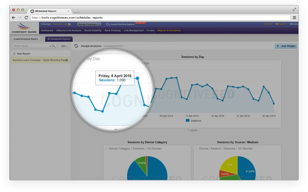 Whitelabel Your Google Analytics Reports